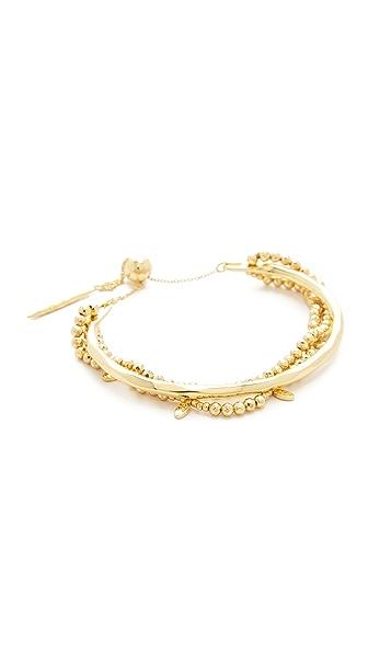 Gorjana Leucadia Beaded Adjustable Bracelet In Gold