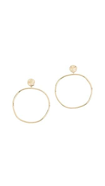Gorjana Chloe Drop Hoop Earrings In Gold
