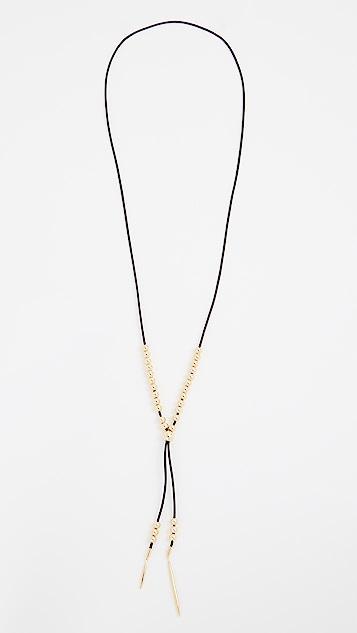 Gorjana Newport Leather Versatile Necklace