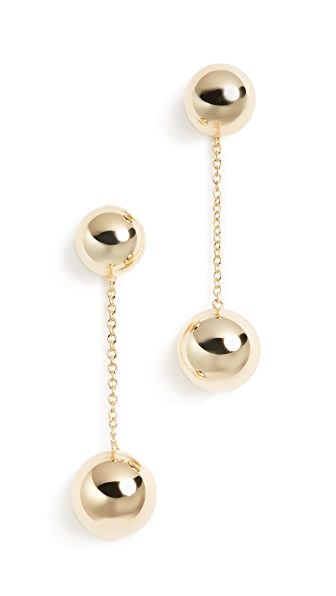 Gorjana Newport Double Drop Earrings In Gold