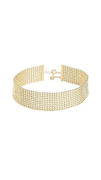 Gorjana Newport Link Choker Necklace In Gold