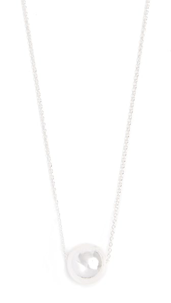 Gorjana Newport Adjustable Necklace In Silver