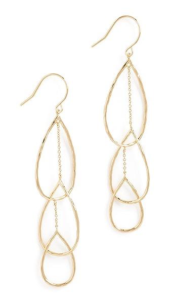 Gorjana Interlocking Tear Drop Earrings In Gold