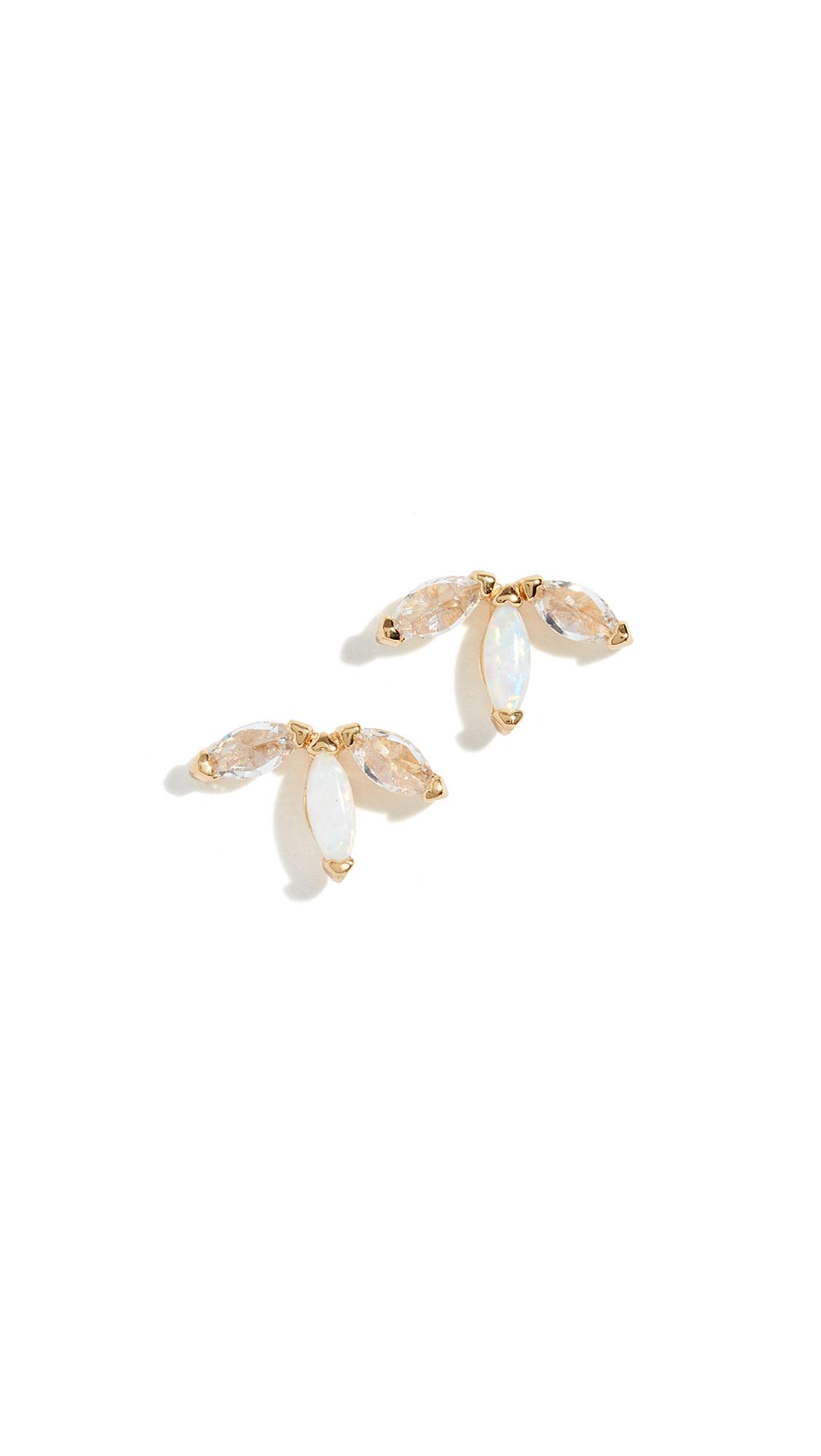 GORJANA Perry Stud Earrings in Opalite