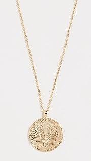 Gorjana Palm Coin Necklace