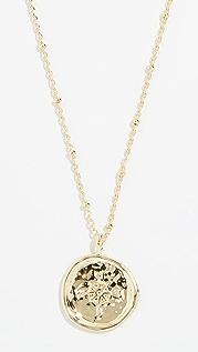 Gorjana 指南针硬币项链