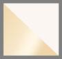 白色方晶锆石/金