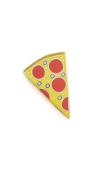 Georgia Perry Tasty Pizza Pin In Yellow/Red