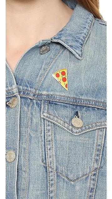 Georgia Perry Tasty Pizza Pin