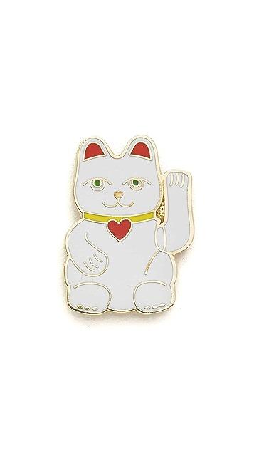 Georgia Perry Lucky Cat Pin