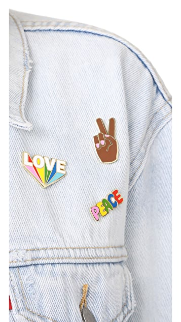 Georgia Perry Peace Hand Lapel Pin