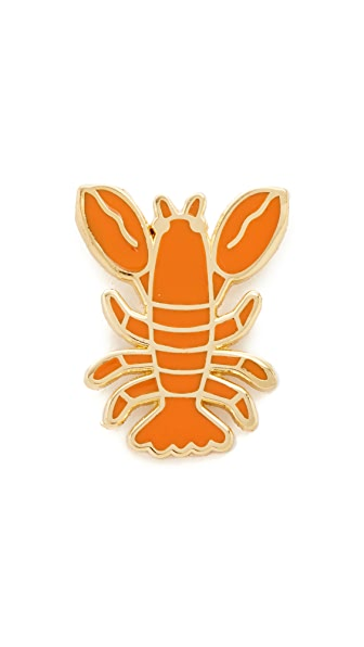 Georgia Perry Lobster Lapel Pin - Red
