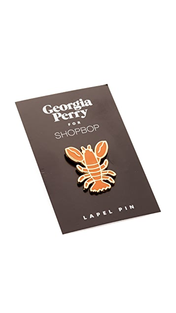 Georgia Perry Lobster Lapel Pin
