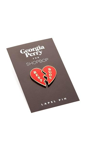 Georgia Perry Best Buds Lapel Pin