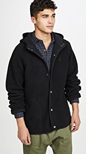 Gramicci Japan Boa Fleece Hooded Coaches Jacket