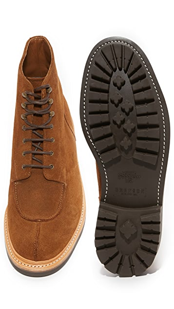 Grenson Grover Suede Split Toe Boots