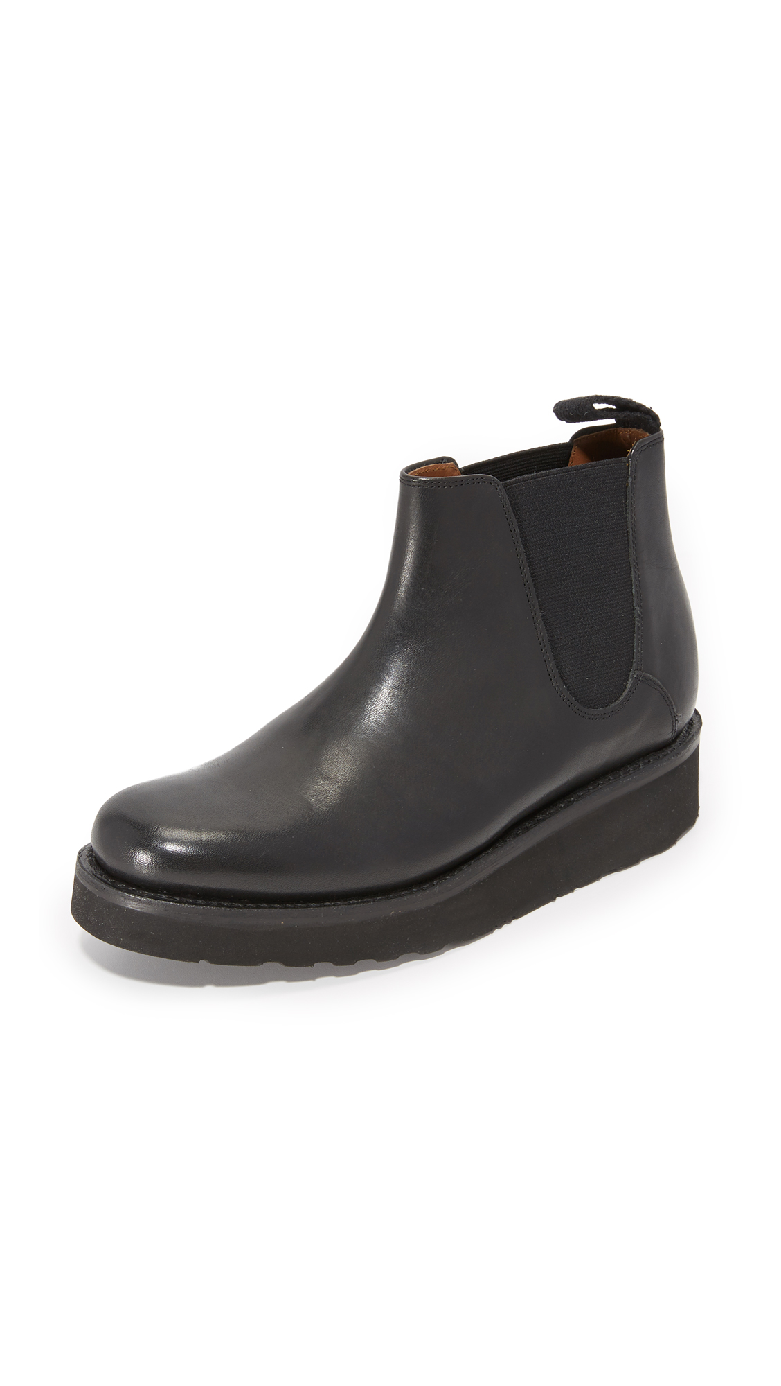 Grenson Lydia Platform Booties - Black
