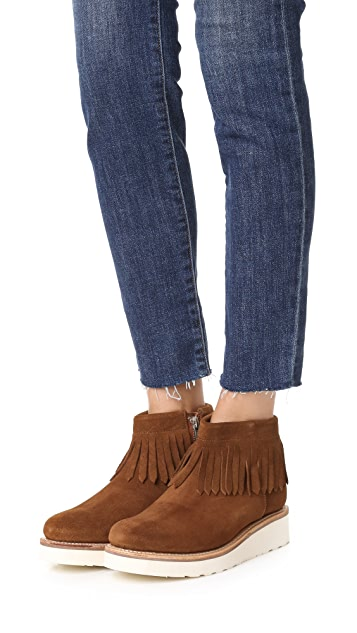 Grenson Trixie Fringe Booties