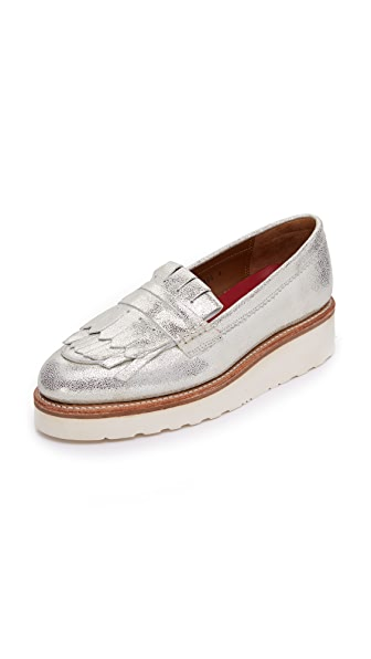 Grenson Juno Platform Loafers - Silver at Shopbop