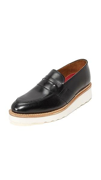 Grenson Alison Platform Loafers - Black at Shopbop