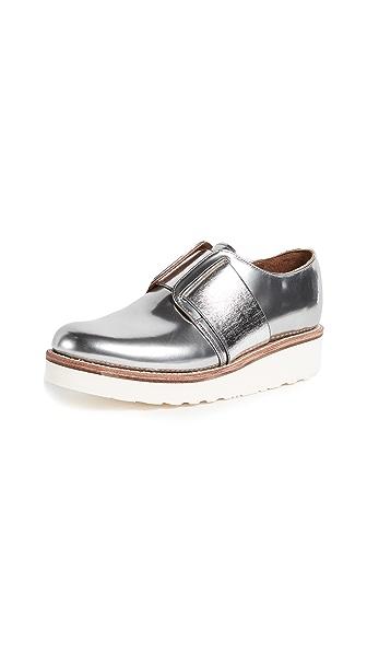 Grenson Lila Oxfords In Silver