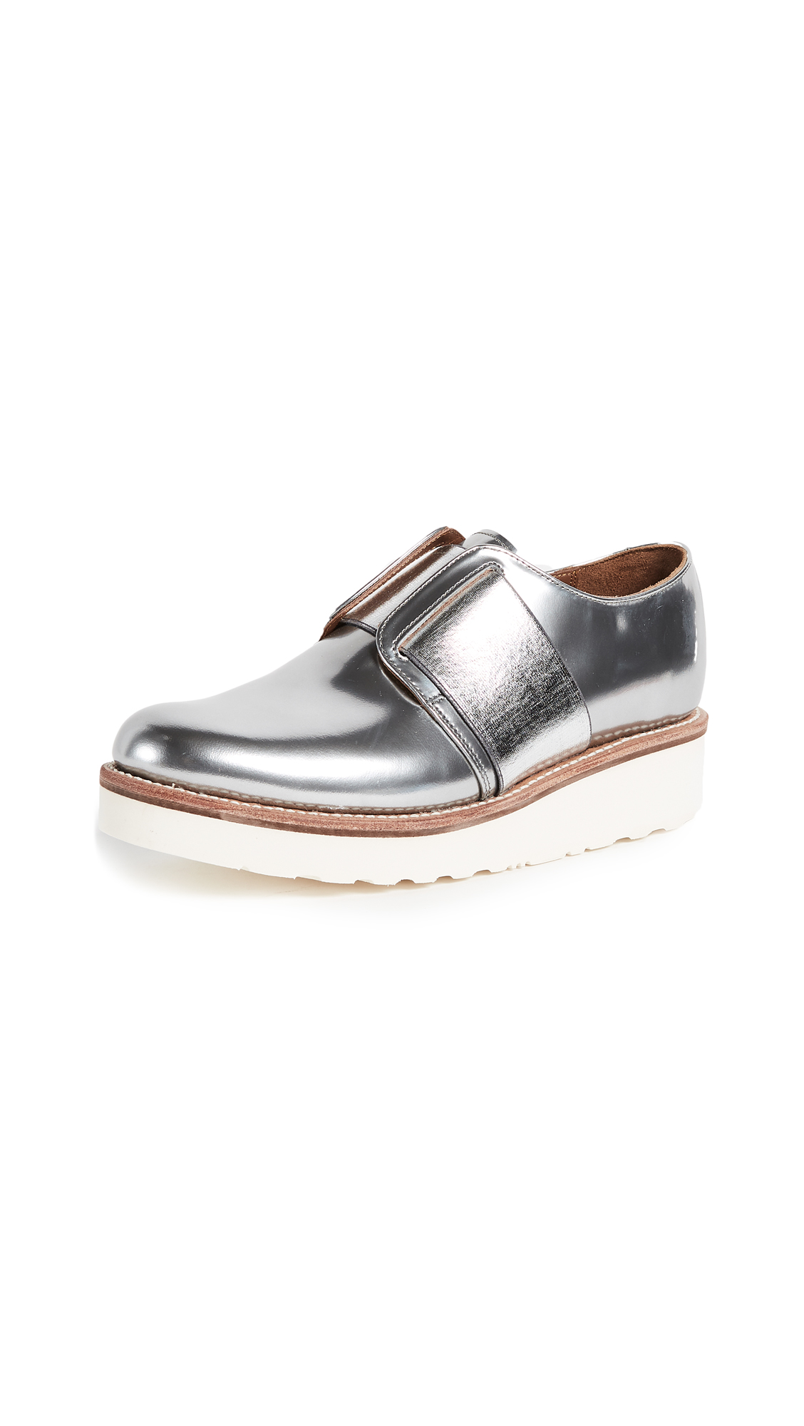 Grenson Lila Oxfords - Silver