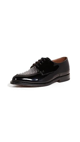 Grenson Lou Studded Oxfords In Black
