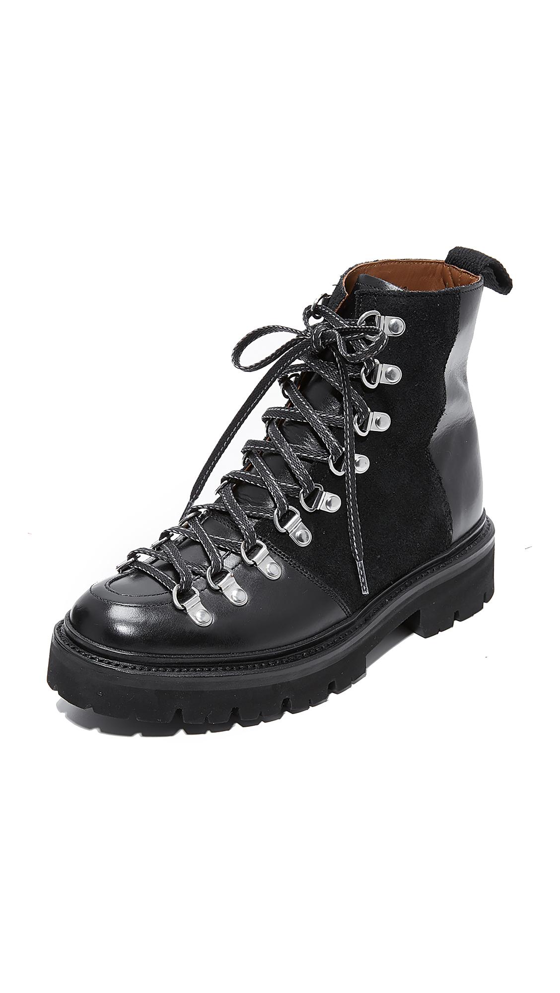 Grenson Nanette Combat Boots - Black