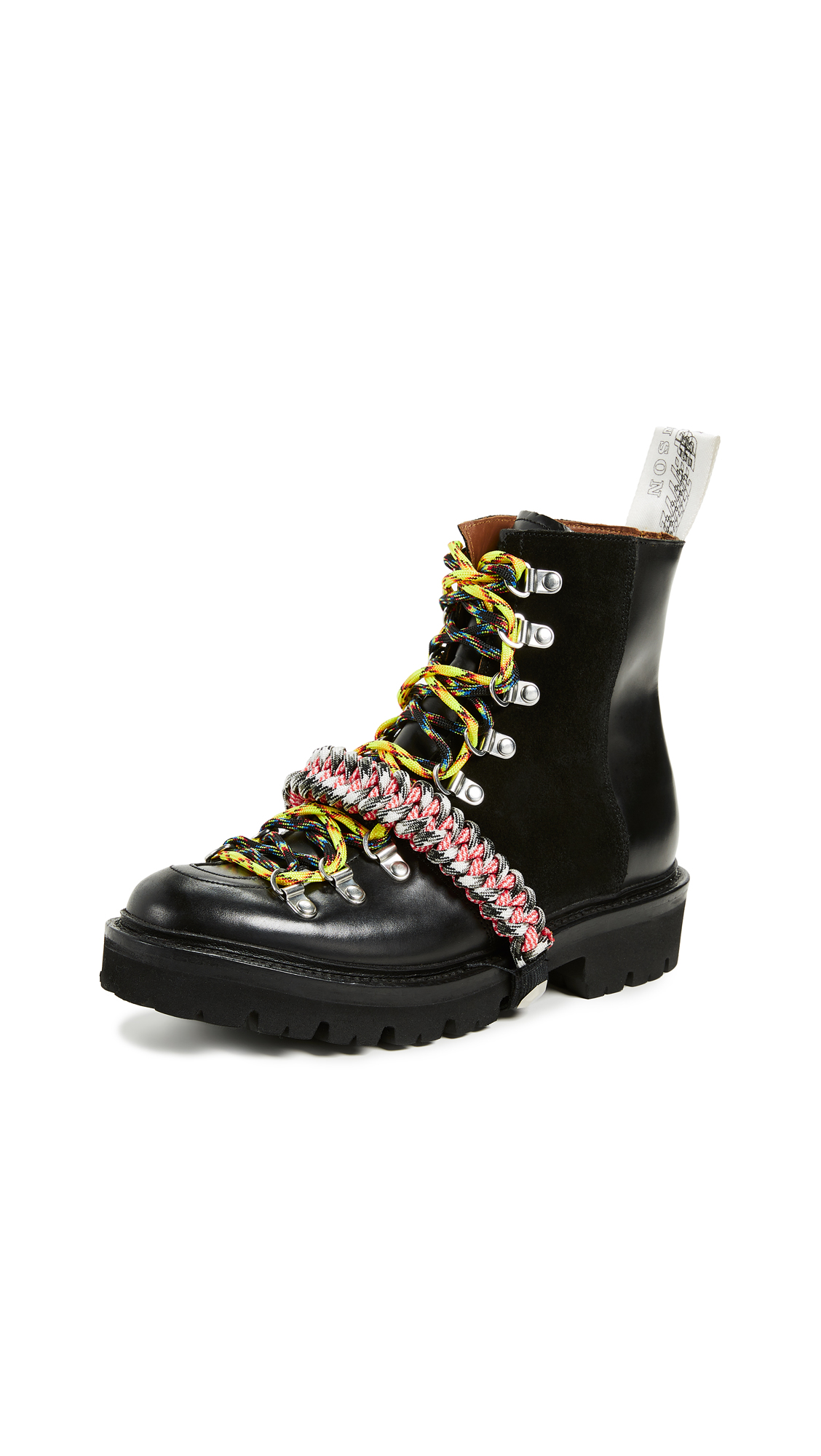 Grenson x House of Holland Vivid Combat Boots - Black Nanette