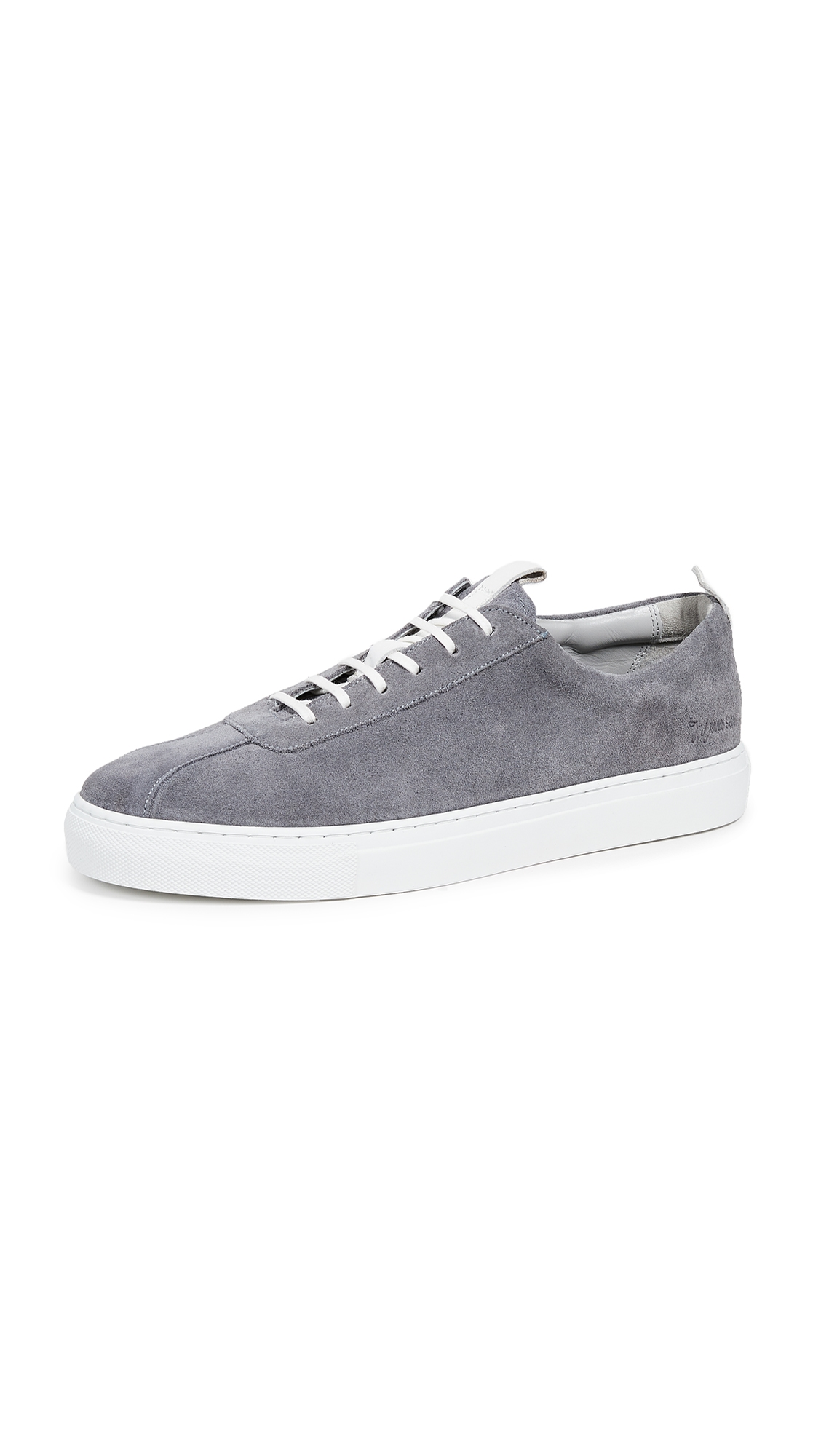 GRENSON Sneaker 1 Grey Suede Trainers in Ash Grey