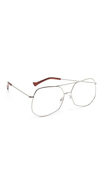Grey Ant Mesh Glasses - Silver/Clear