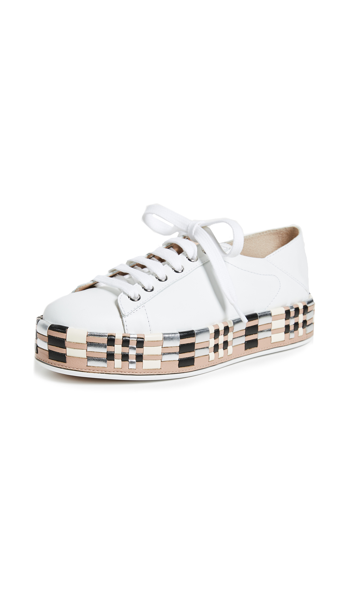 Greymer Art Safi Stepdown Sneakers - Vitello Bianco