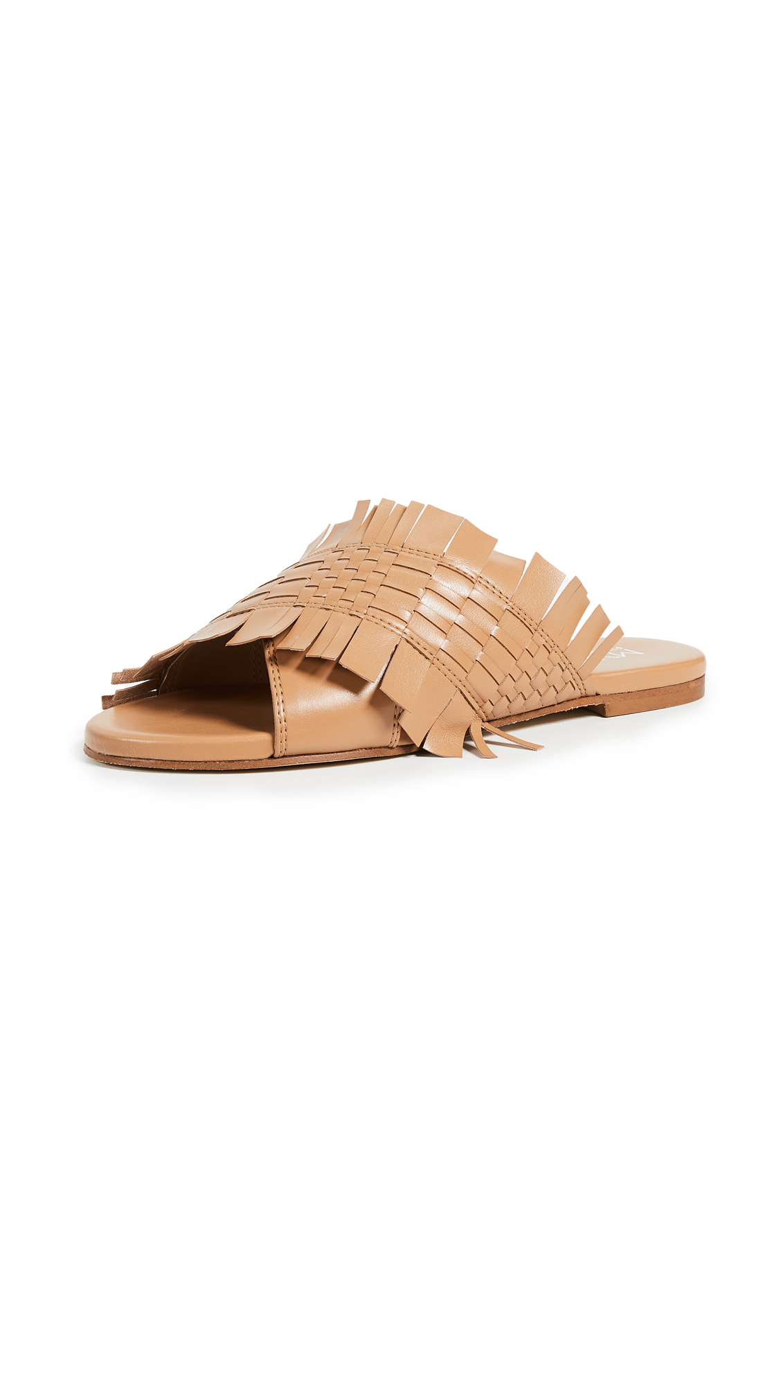 Greymer Happy Woven Slides - Soft Cuoio