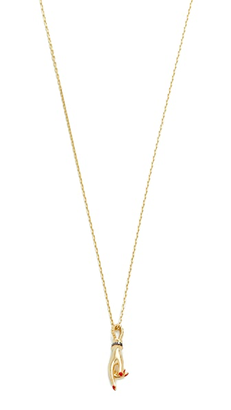 Gillian Steinhardt 14k Gold YAD Pendant Necklace
