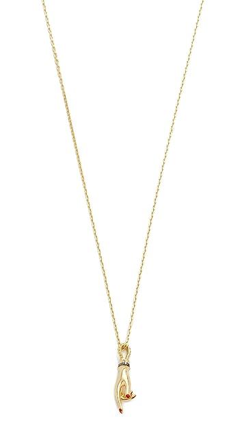 Gillian Steinhardt 14k Gold YAD Pendant Necklace