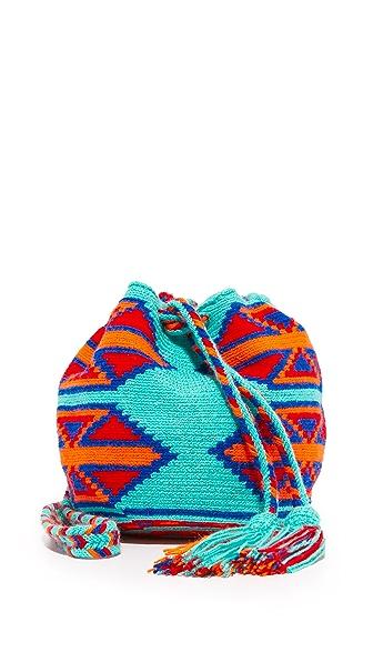Guanabana Drawstring Cross Body Bag - Multi