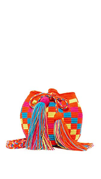 Guanabana Drawstring Cross Body Bag