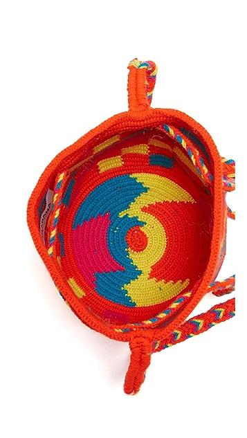 Guanabana Drawstring Cross Body Bag