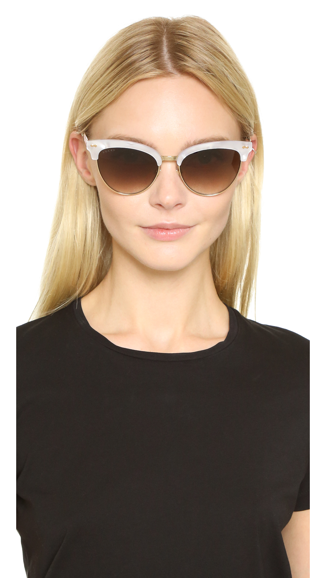 7556c4c0ee Gucci Damascato Cat Eye Sunglasses