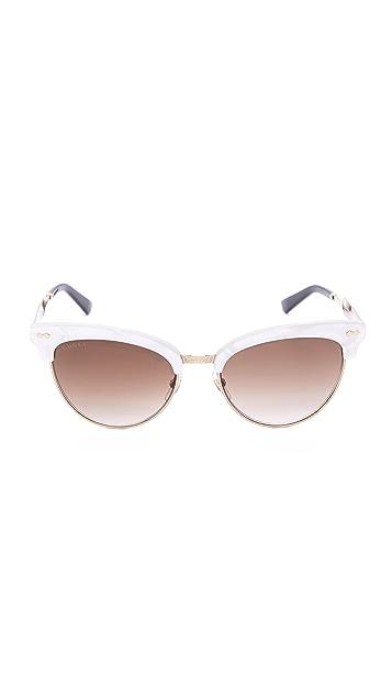 Gucci Damascato Cat Eye Sunglasses