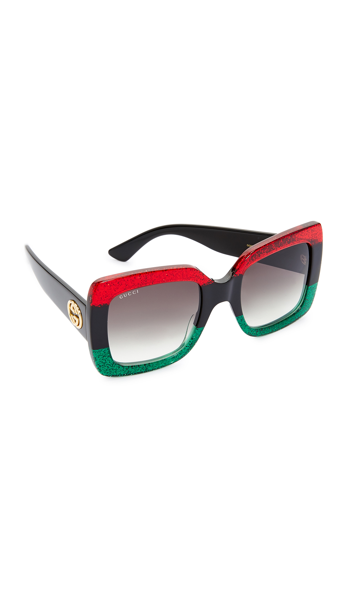 00fb187a21f Gucci Square Urban Web Block Sunglasses