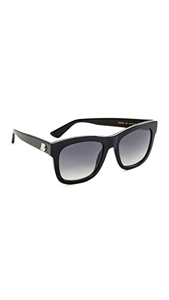 Gucci Square Tiger Sunglasses at Shopbop