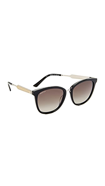 Gucci Decorness Oversized Sunglasses at Shopbop