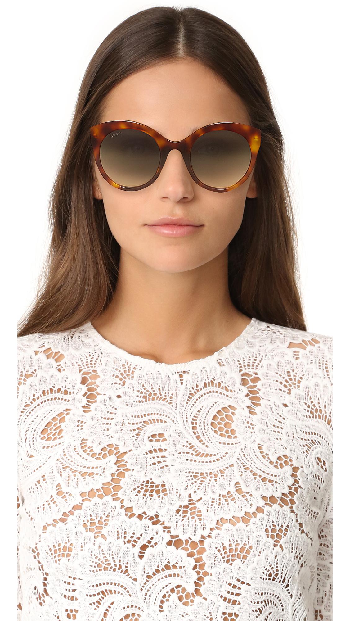 54f84bea9118 Gucci Cat Eye Tiger Sunglasses | SHOPBOP