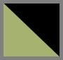 черный блестящий зеленый/серый