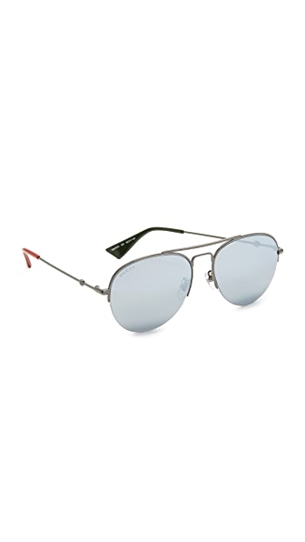 Gucci Urban Pilot Aviator Sunglasses at Shopbop