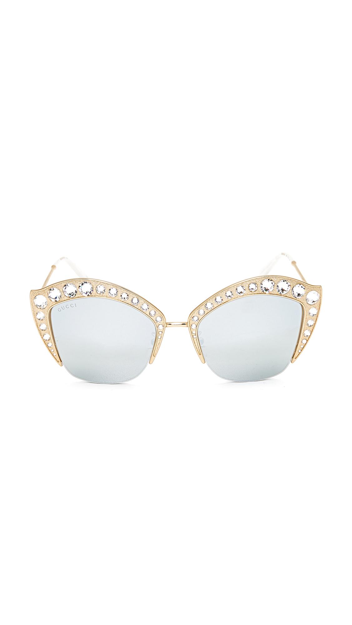 3d64c58bb80 Gucci Swarovski Crystal Cat Eye Sunglasses