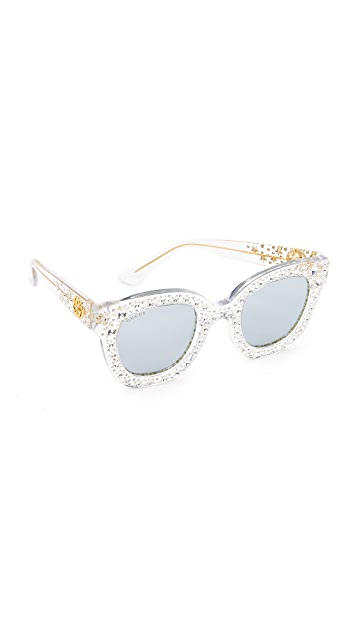 Gucci Swarovski Crystal Square Sunglasses