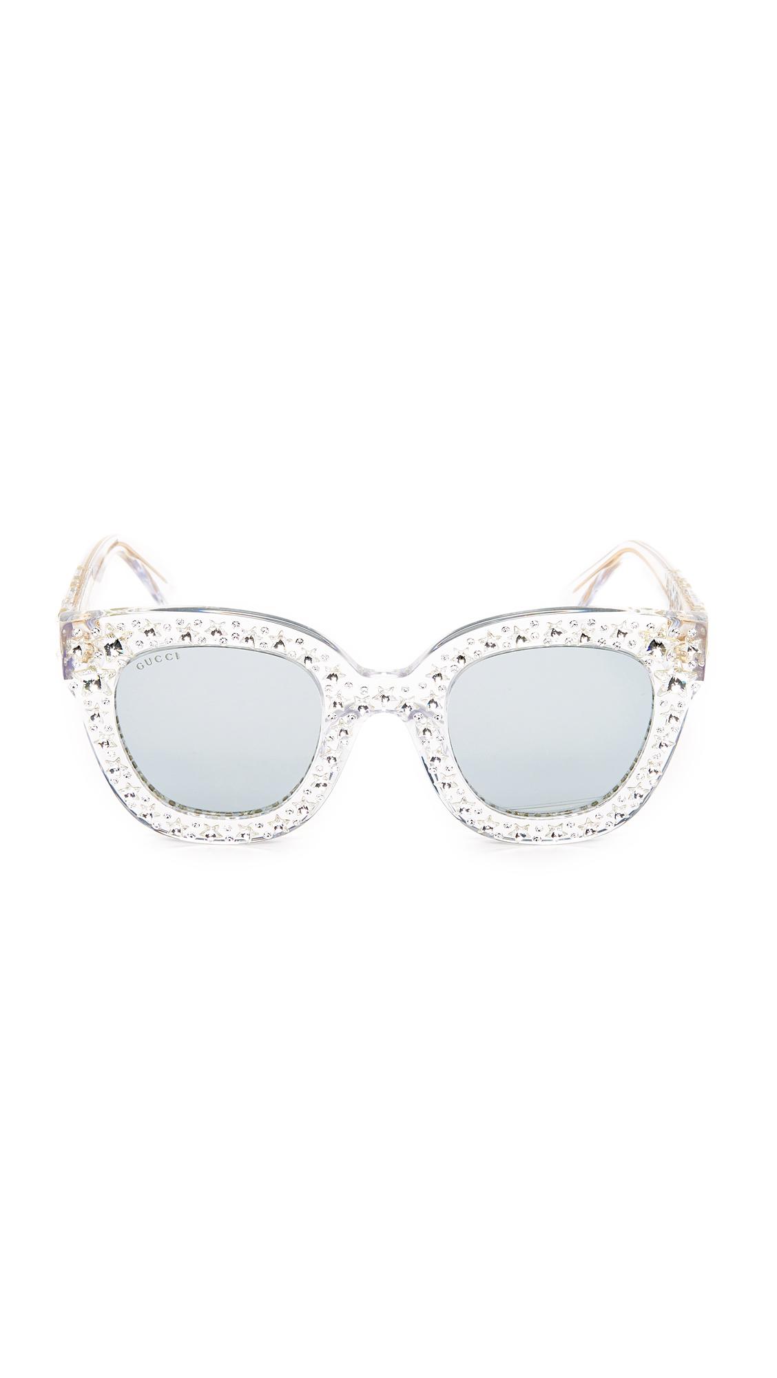 7fc8d07daa Gucci Swarovski Crystal Square Sunglasses