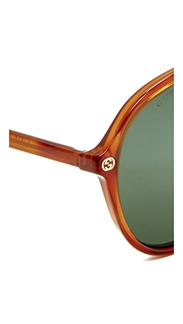 Gucci Urban Pilot Aviator Sunglasses